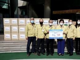 청도군, 청도교육지원청에 마스크 등 방역물품 전달